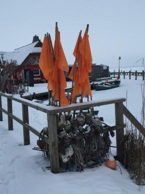 Dierhagen Dorf der Bodden im Winter